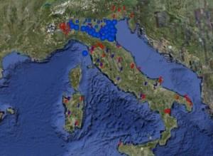 Distribuzione filariosi in Italia